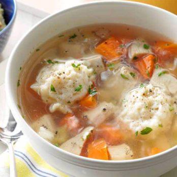 Soupe santé poulet et dumplings