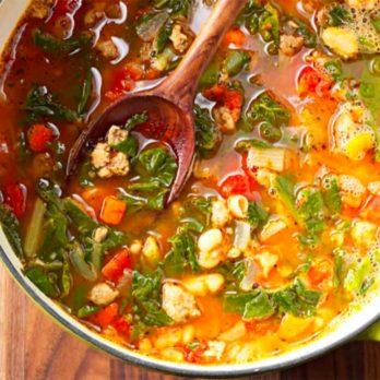 Soupe saucisse et légumes
