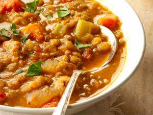 Soupe saucisses et lentilles