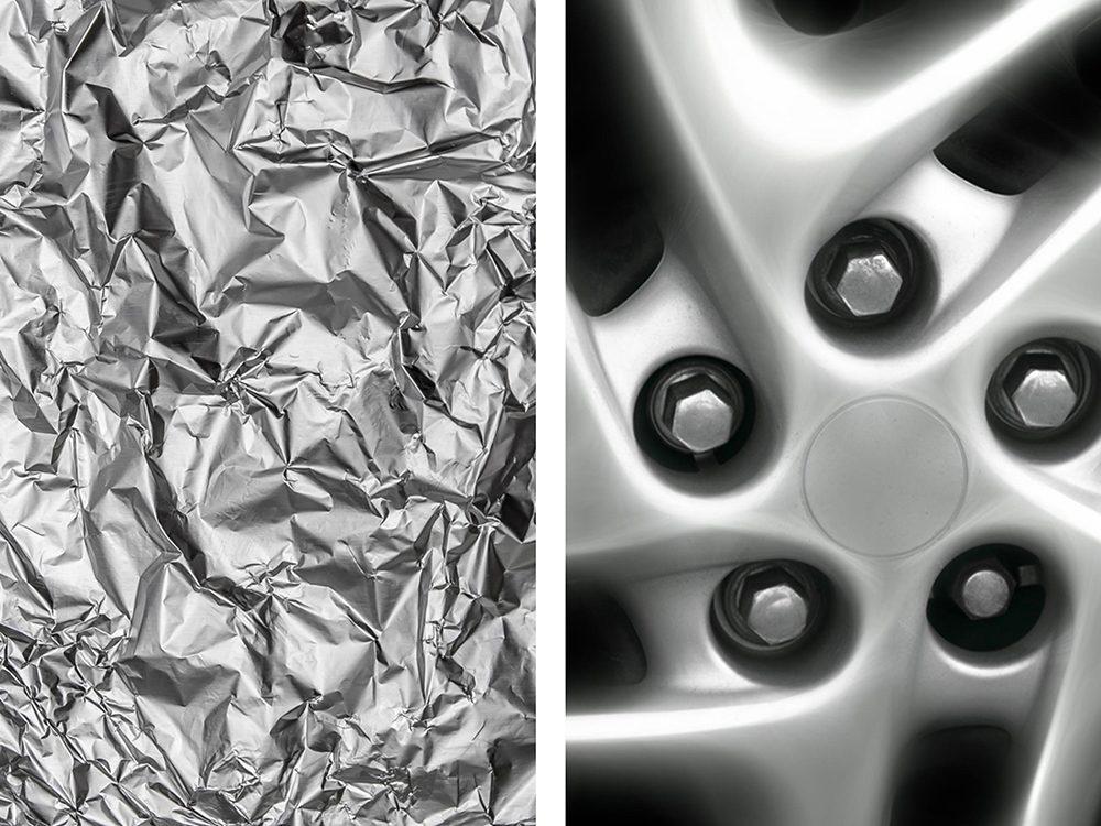 Faire briller des chromes avec de l'aluminium ménager.