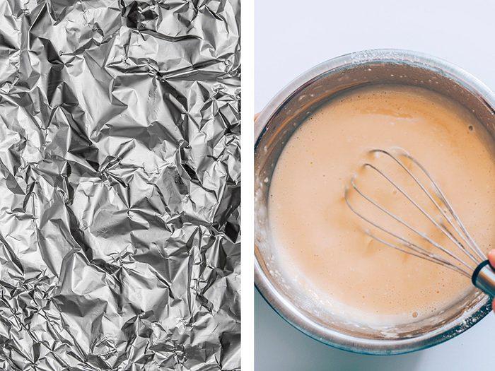 Fabriquer des moules originaux avec de l'aluminium ménager.