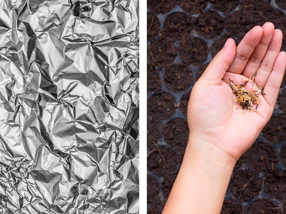 Fabriquer un incubateur pour graines avec de l'aluminium ménager.
