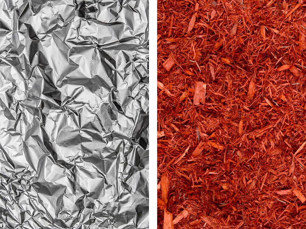 Mettez du mordant dans vos paillis avec de l'aluminium ménager.