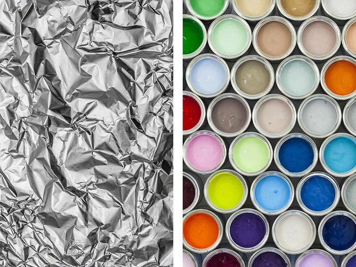 Fabriquer une palette d'artiste avec du papier aluminium.
