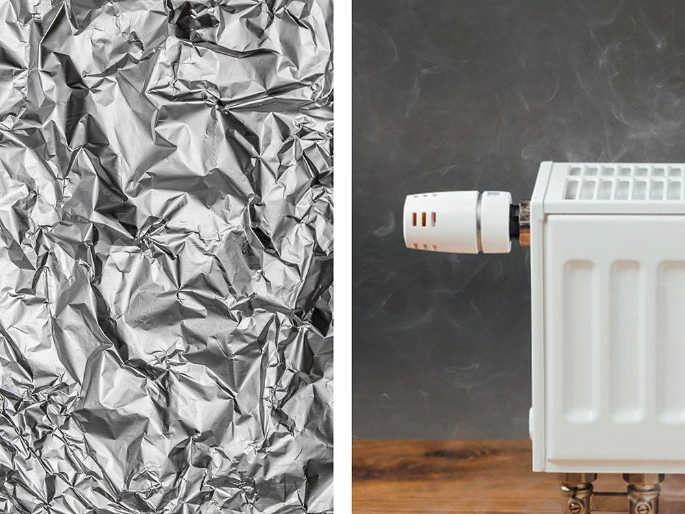 Des radiateurs plus performants avec de l'aluminium ménager.