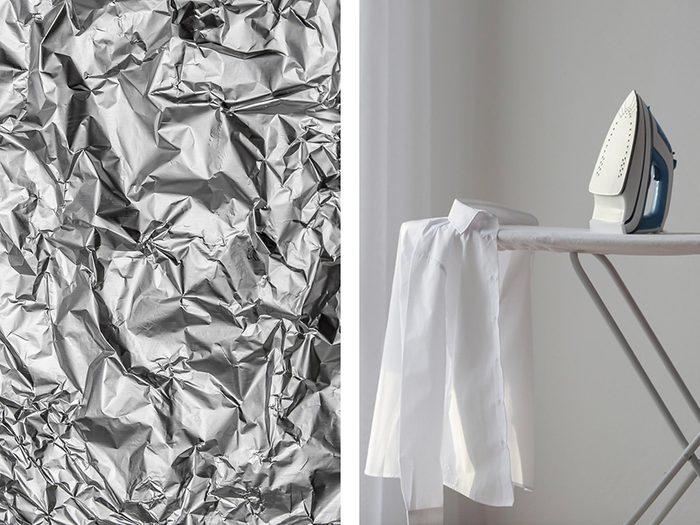 Accélérer le repassage avec de l'aluminium ménager.