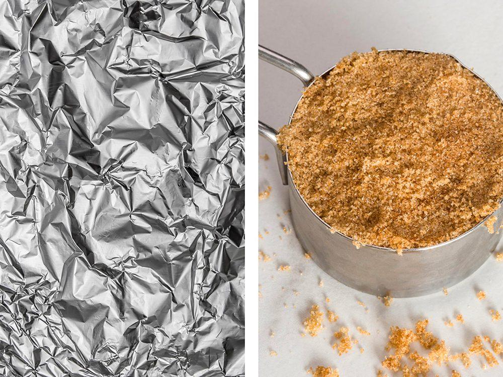 Refaire du sucre en poudre avec de l'aluminium ménager.