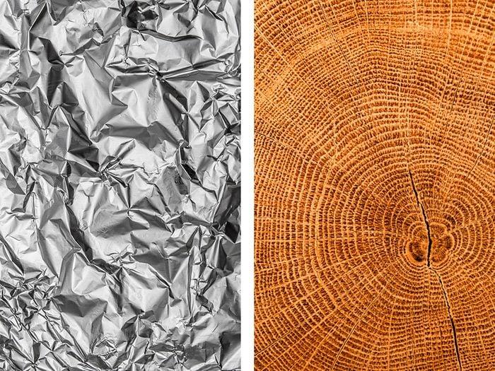 Protéger les troncs des arbres avec de l'aluminium ménager.