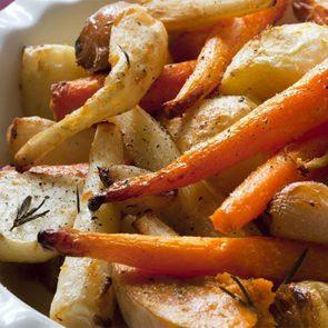 Des carottes et panais rôtis pour être comme à la cabane à sucre.