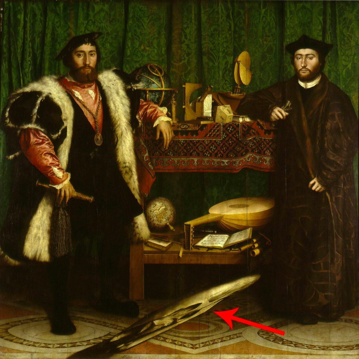 Les chefs-d'œuvre de la peinture: Les Ambassadeurs.