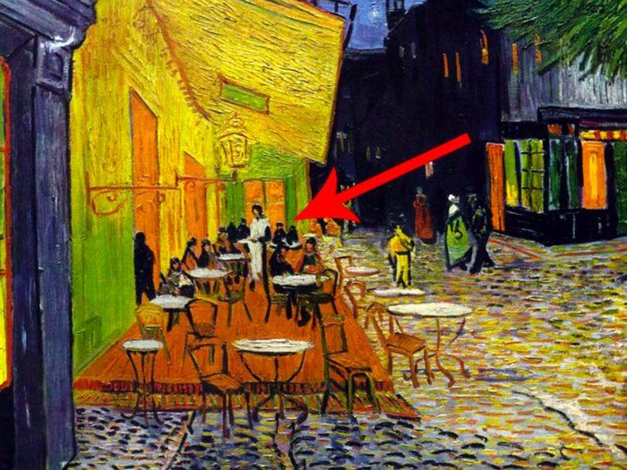 Les chefs-d'œuvre de la peinture: Terrasse de café le soir.