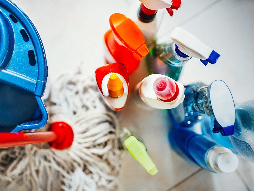 Économiser sur les produits de nettoyage.