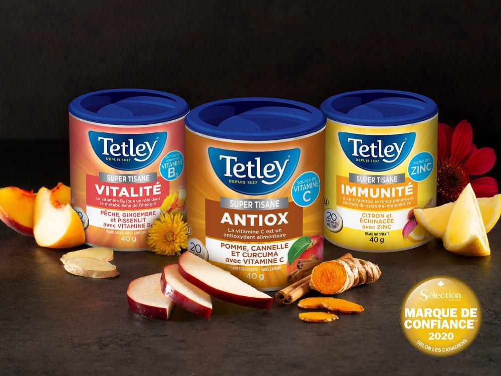 Tetley, marque de confiance.