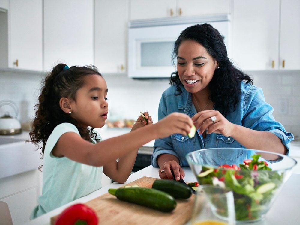 Faites plus de place aux aliments santé pour vivre plus vieux.