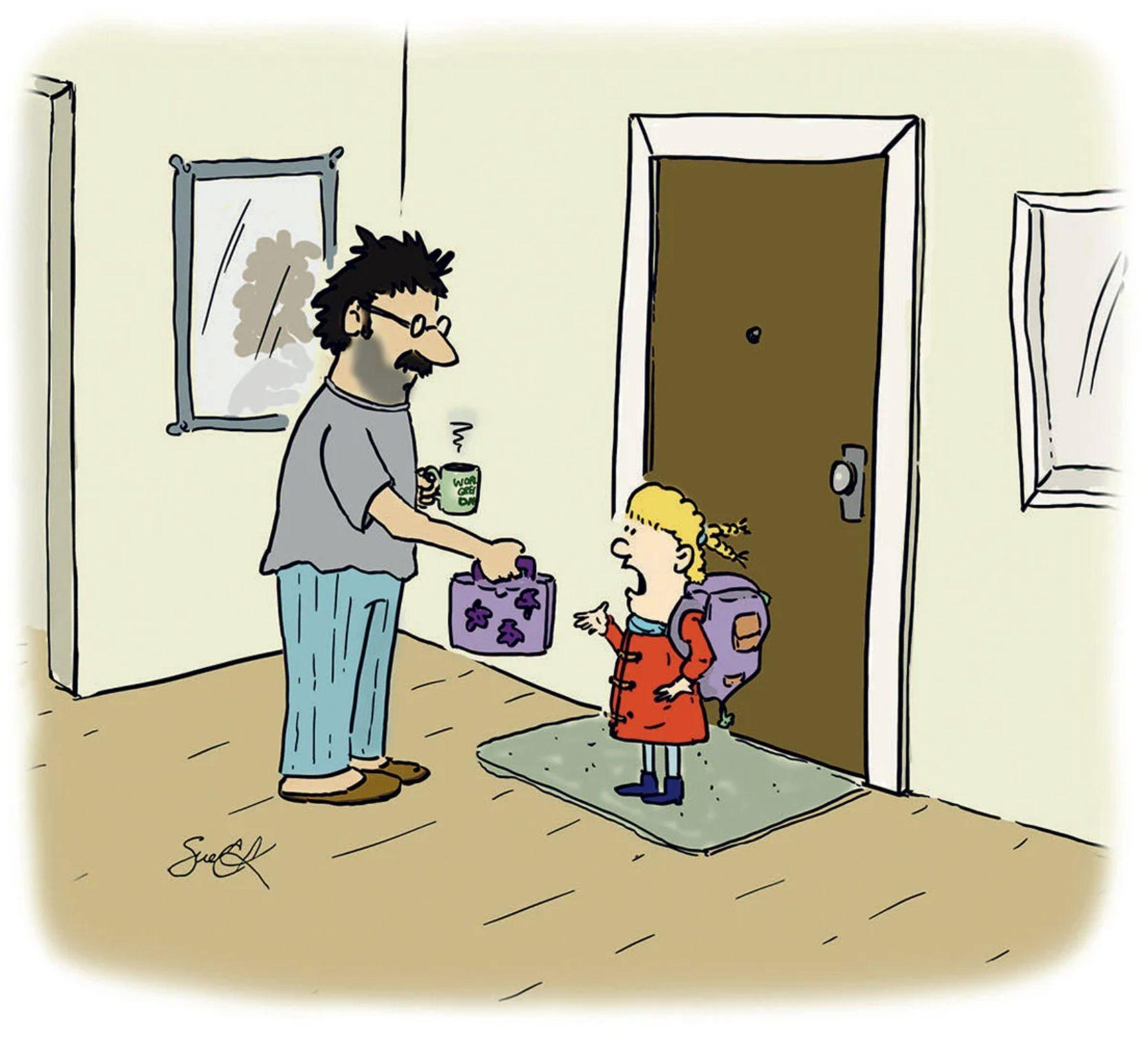 Caricatures sur le travail: point de vue des enfants.