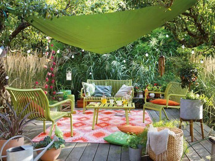 Un jardin de rêve avec un air des tropiques.