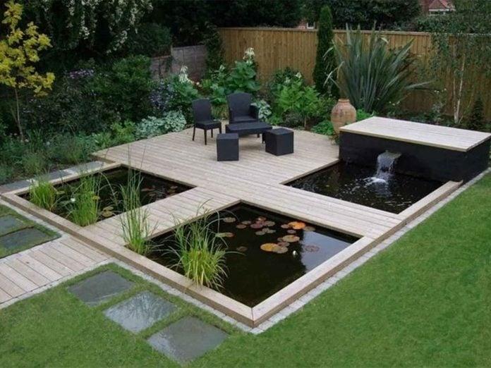 Un jardin de rêve avec un coin zen.