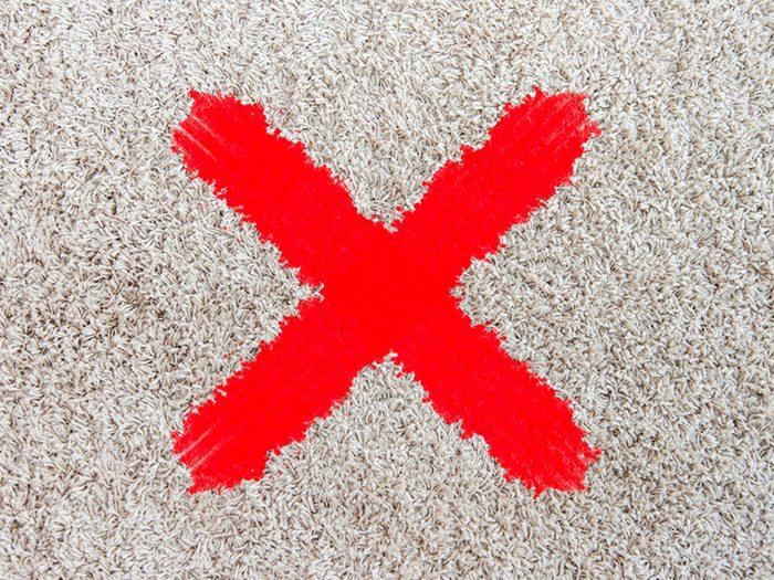 N'utilisez pas de lingettes antibactériennes pour tout ce qui absorbe l'humidité.