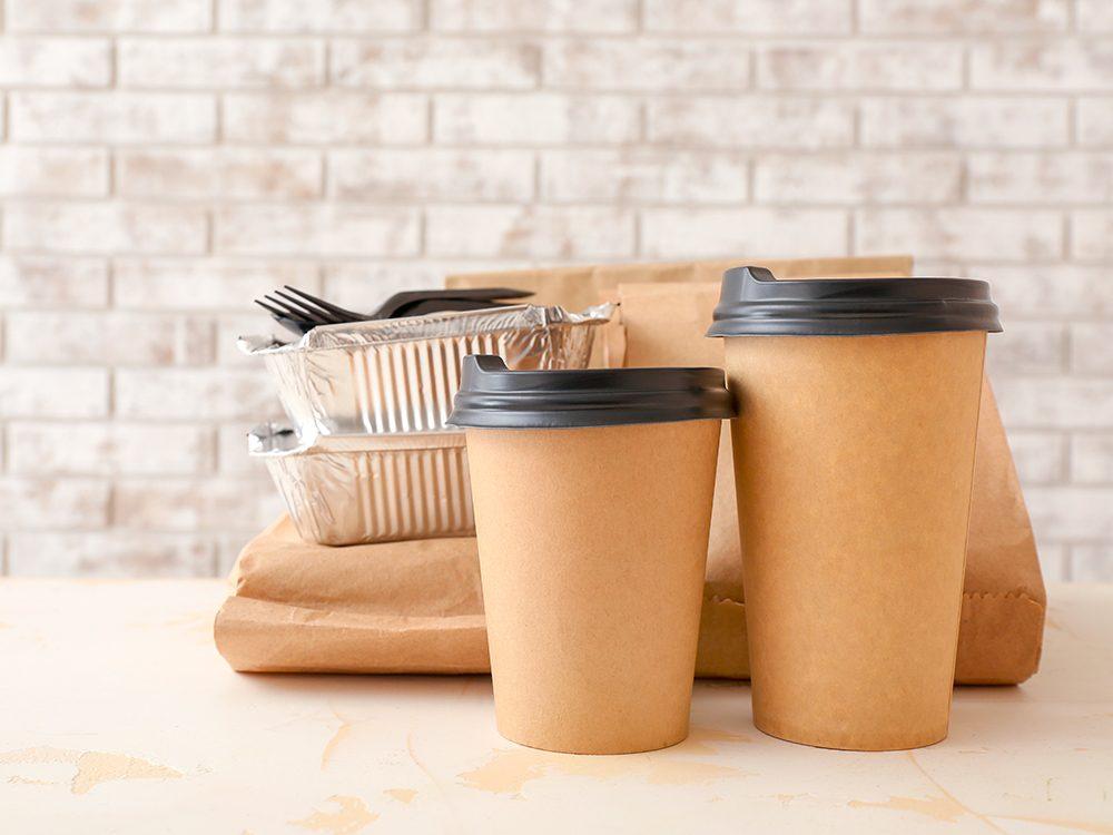 À la réception de votre livraison de repas, vous pouvez prendre des mesures de sécurité supplémentaires.