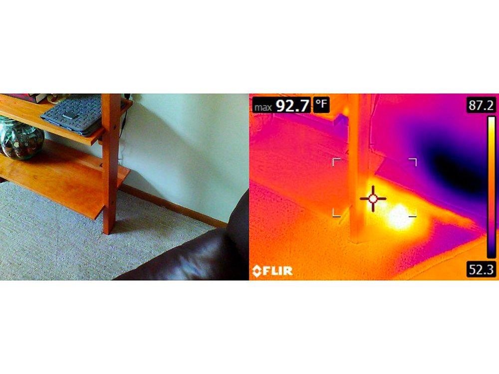 N'essayez pas cela à la maison: le tapis sur bouche de chaleur.
