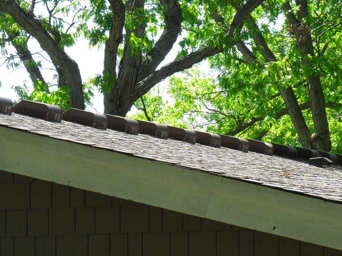 N'essayez pas cela à la maison: l'armée des évents de toit.