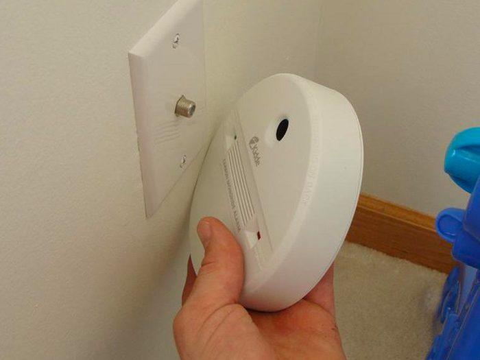 N'essayez pas cela à la maison: un détecteur mal placé.