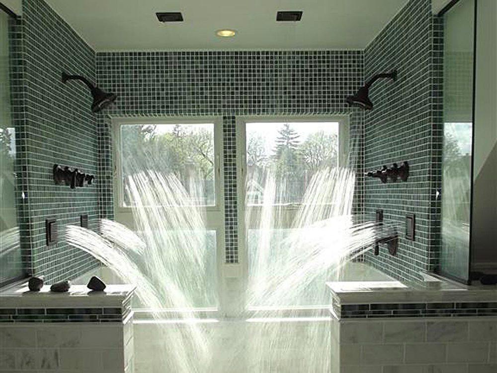 N'essayez pas cela à la maison: douche SPA.