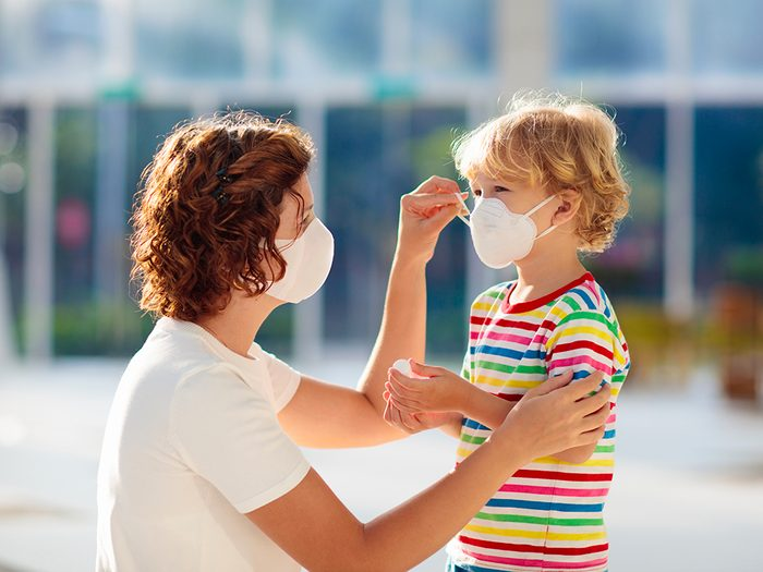Masque de protection: une barrière entre vous et ceux qui sont vulnérables.