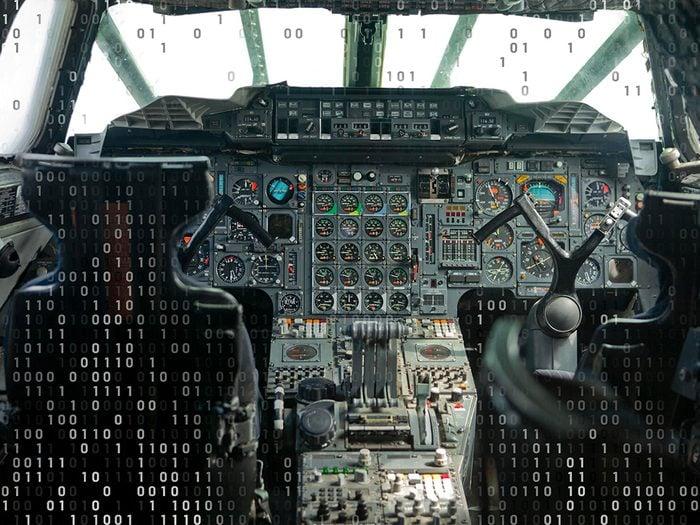 Voyage virtuel: entrez dans un avion emblématique.
