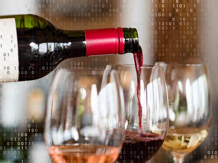 Voyage virtuel: dégustation de vins.