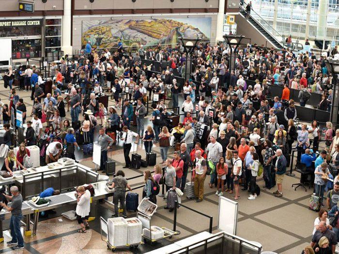 Vous ne verrez plus de foule de gens dans les aéroports.
