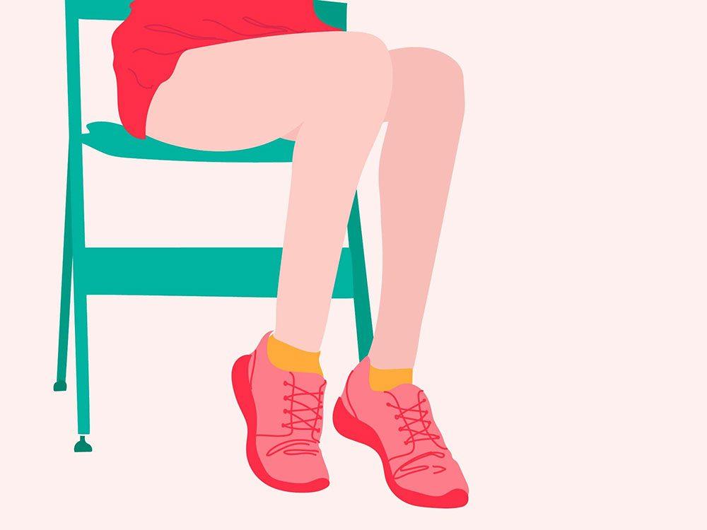 Passez de la position assise à la position debout pour vous auto diagnostiquer.