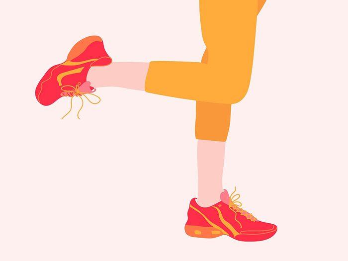 Testez l'équilibre sur une jambe pour vous auto diagnostiquer.