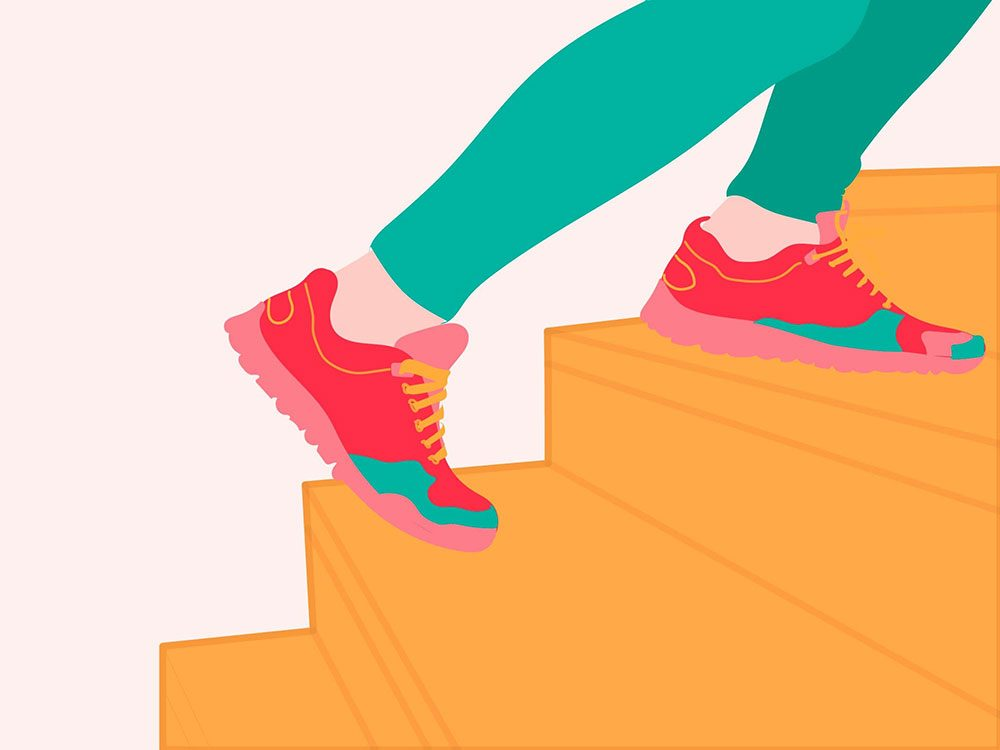 Montez les escaliers en parlant ou en chantant pour vous auto diagnostiquer.