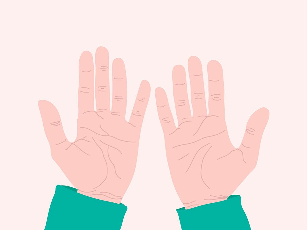 Regardez dans les lignes de votre main pour vous auto diagnostiquer.