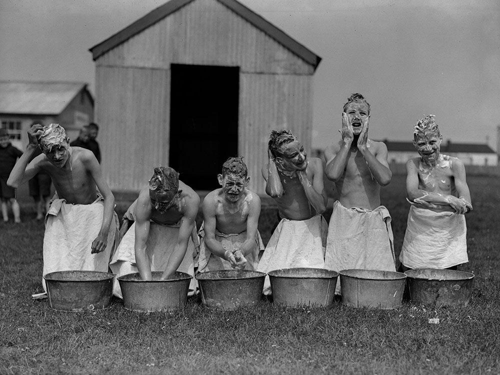 Hygiène: un nettoyage extérieur.