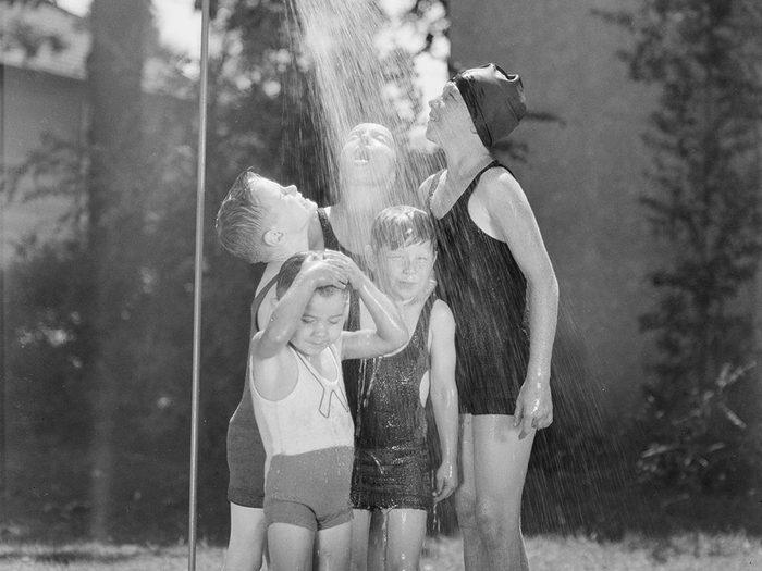 Une bonne douche pour une bonne hygiène.