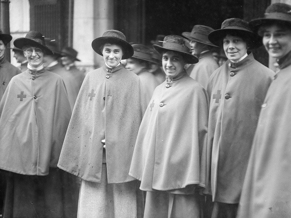 Les infirmières avaient des uniformes à leur mesure.