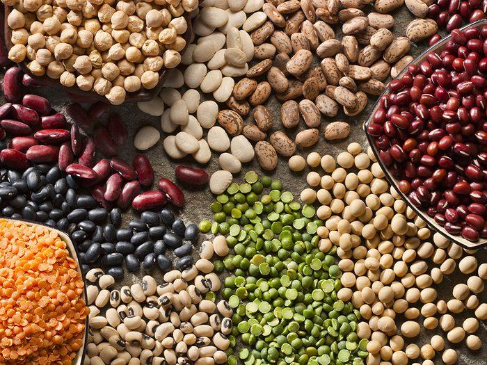 Perte de poids: des légumineuses comme plat principal comme au Moyen-Orient.