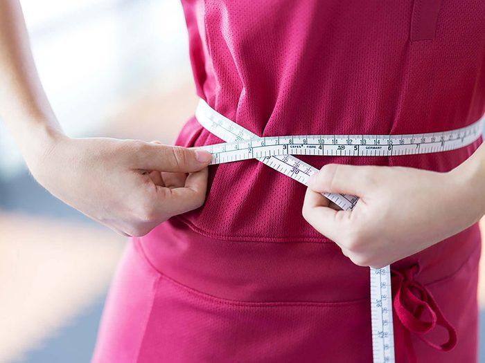 Vous avez un tour de taille et donc probablement un poids santé.