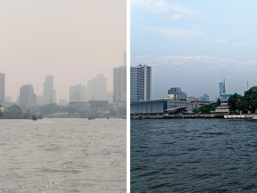 Bangkok, en Thaïlande, est l'une des villes les plus polluées.