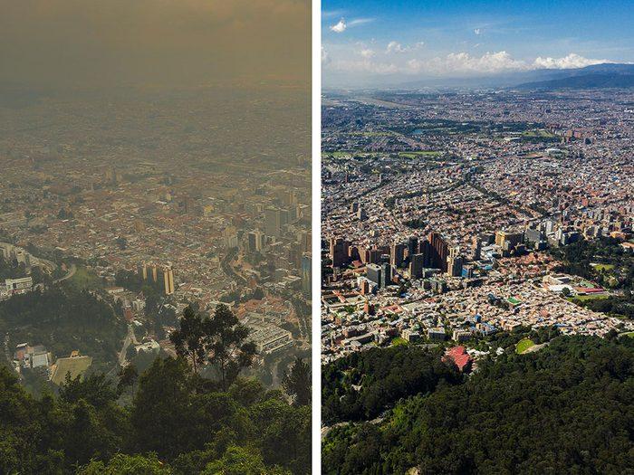 Bogota, en Colombie, est l'une des villes les plus polluées.