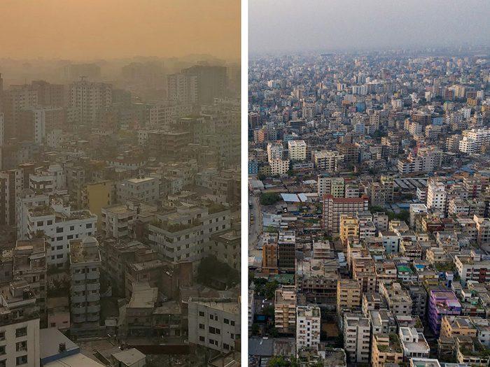 Dhaka, au Bangladesh, est l'une des villes les plus polluées.