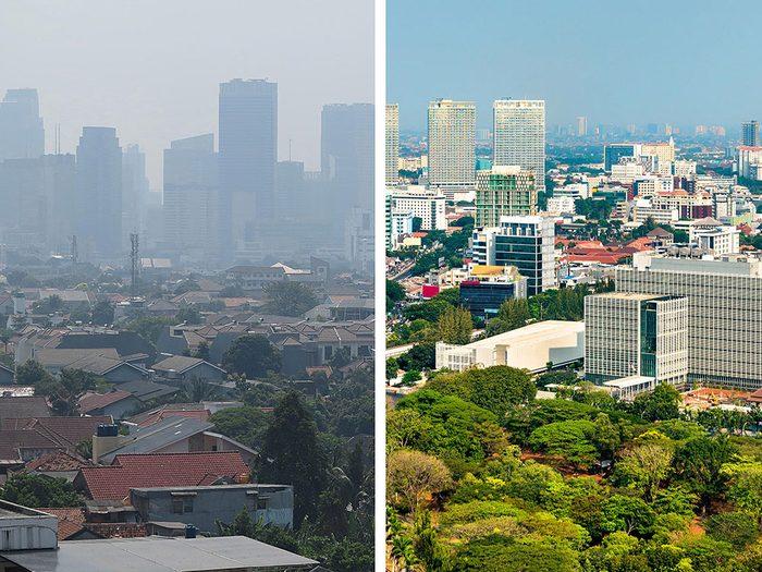 Jakarta, en Indonésie, est l'une des villes les plus polluées.