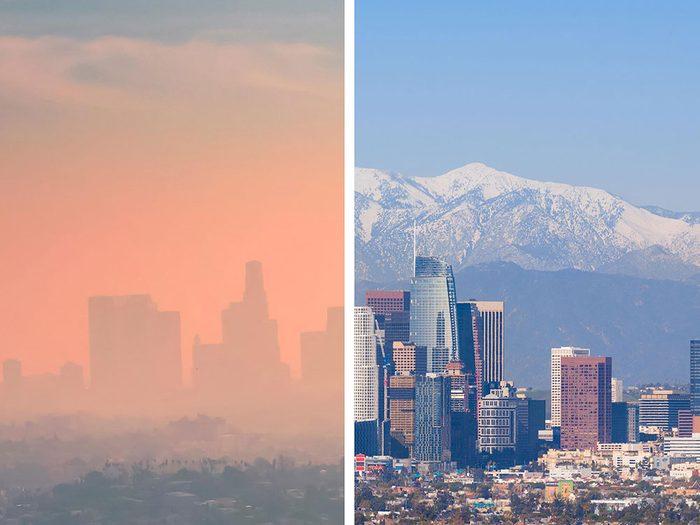 Los Angeles, aux États-Unis, est l'une des villes les plus polluées.