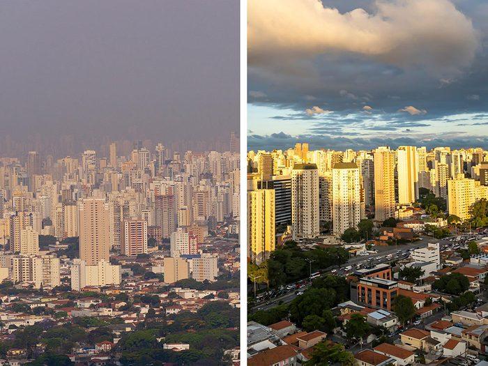 São Paulo, au Brésil, est l'une des villes les plus polluées.