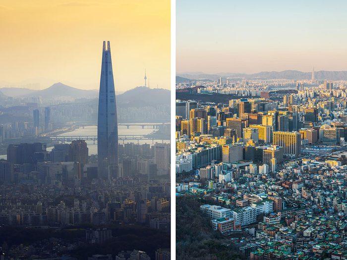 Séoul, en Corée du Sud, est l'une des villes les plus polluées.
