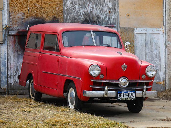 En 1950 sortait la voiture Crosley Station Wagon.