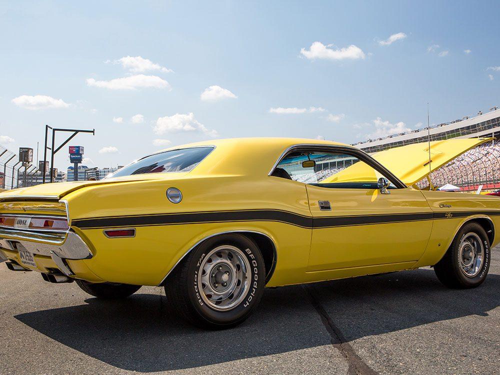 La voiture Dodge Challenger de 1970.