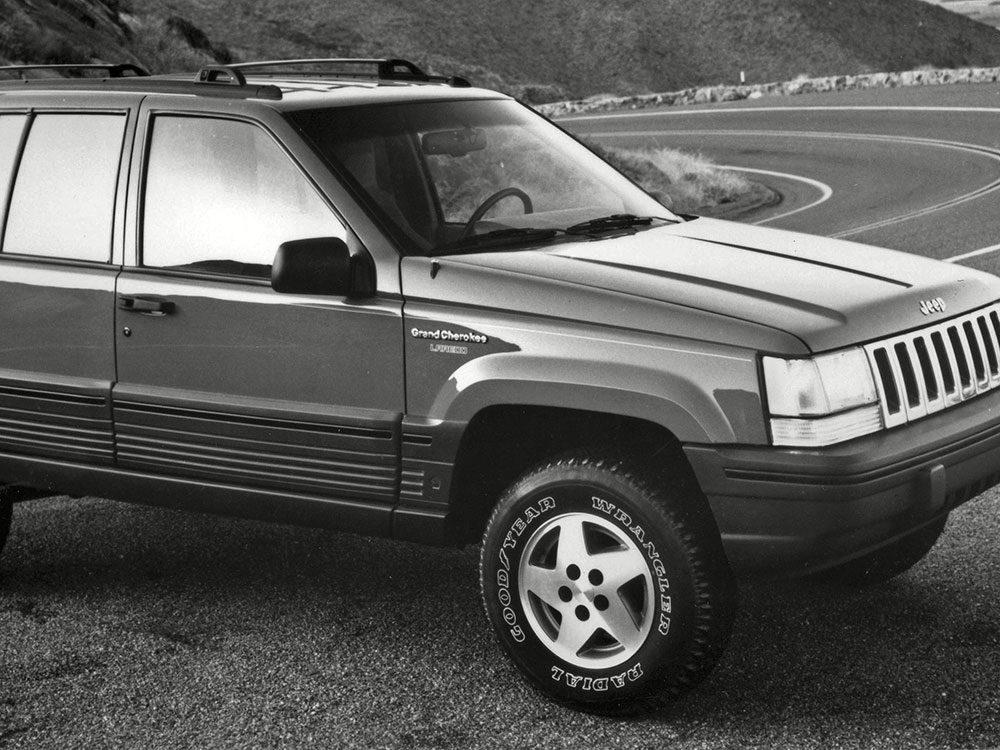 La voiture Jeep Grand Cherokee de 1993.